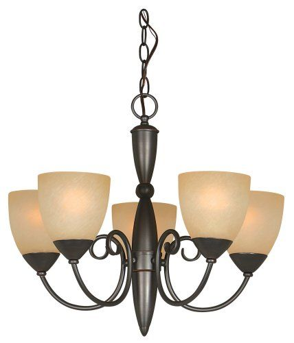 Hardware House 543728 Berkshire 21-Inch by 18-Inch Chandelier Classic Bronze