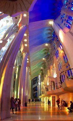 One of the reasons to visit Barcelona: the Interior of La Sagrada Familia