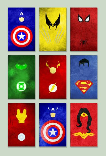 Minimal superhero posters by thelincdesign s per h roes for Puerta wonder woman