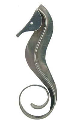 repinned----Wonderful 1950s Modernist seahorse brooch by Paul Lobel.