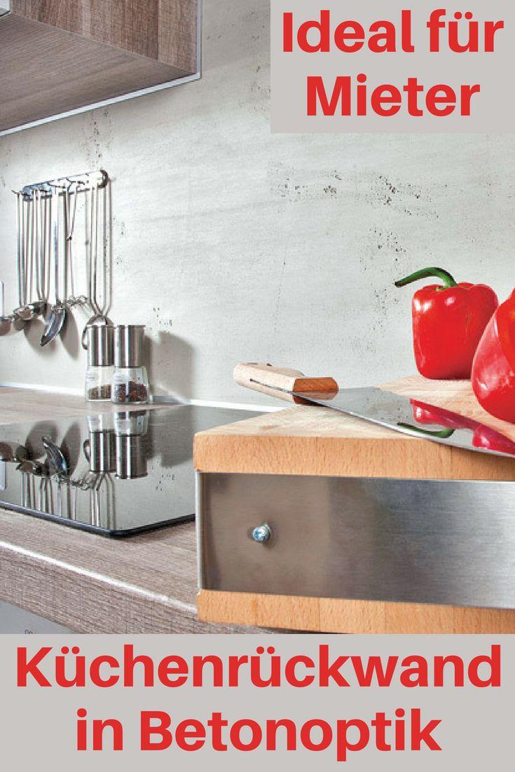 Küchenrückwand: Betonoptik