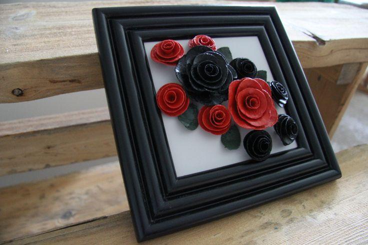Oma suosikkini musta kehyksinen kukkataulu koko n. 25 x 25 cm