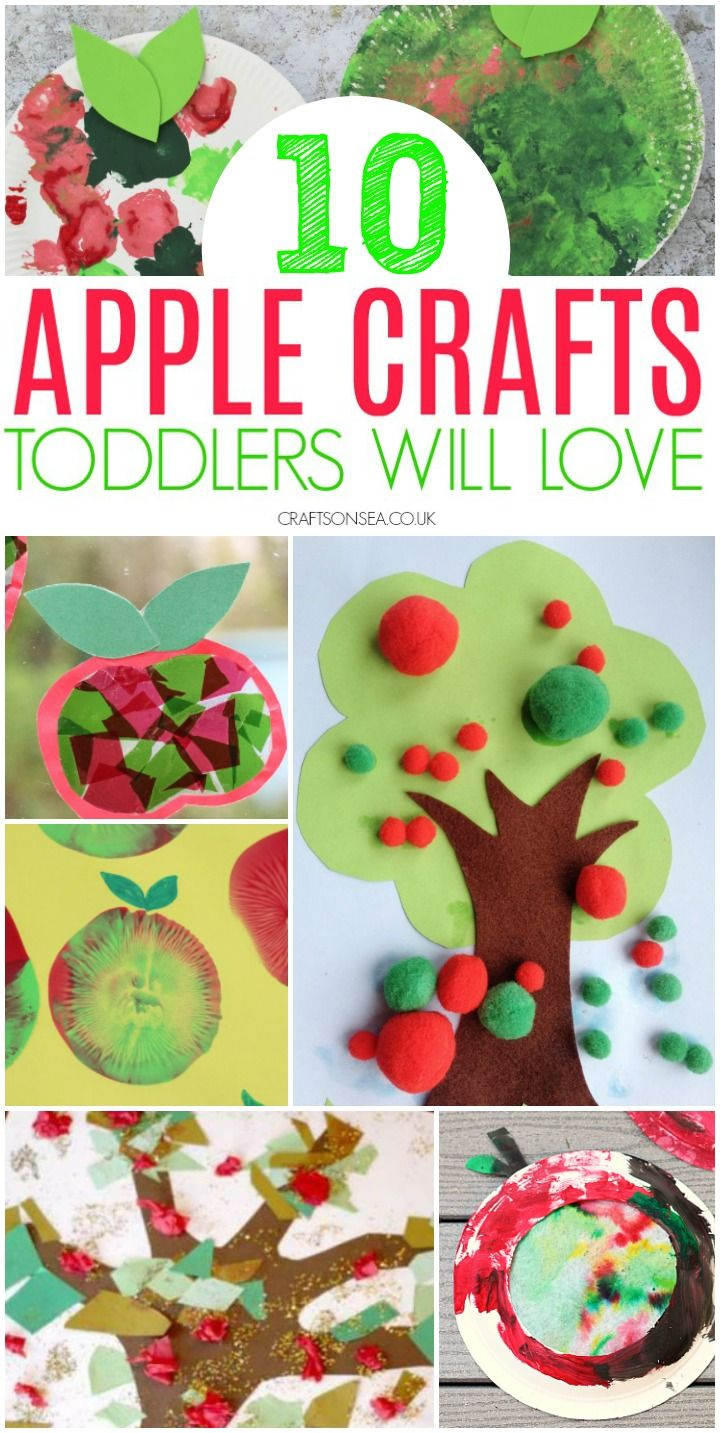 10 Easy Apple Crafts for Toddlers