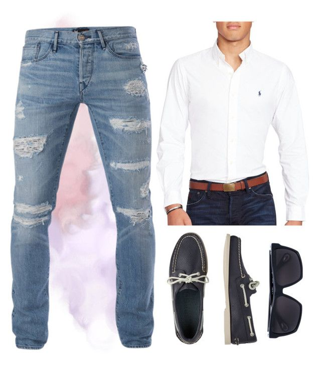 """""""Casual N' Clean"""" by miah-belmonte on Polyvore featuring 3x1, Linda Farrow, Polo Ralph Lauren, TravelSmith, men's fashion and menswear"""