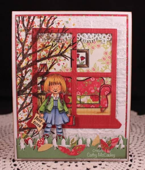 What an amazing, sweet scene!: Windows Cards, Memories Boxes, Doors Cards, Windows Boxes, Sweets Scene, Paper Crafts, Cards Windows