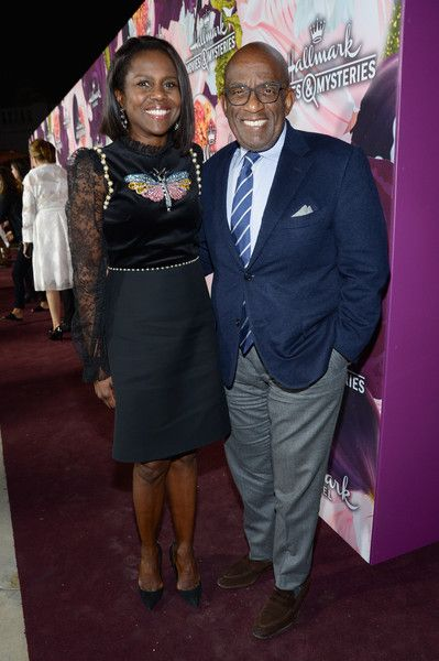 TV journalist Deborah Roberts (L) and TV personality/actor Al Roker attend Hallmark Channel and Hallmark Movies and Mysteries Winter 2018 TCA Press Tour at Tournament House on January 13, 2018 in Pasadena, California.