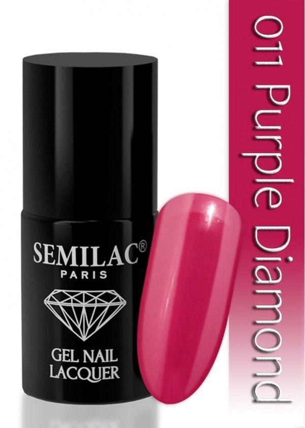 Semilac 011 Purple Diamond UV&LED Nagellack. Auch ohne Nagelstudio bis zu 3 WOCHEN perfekte Nägel!