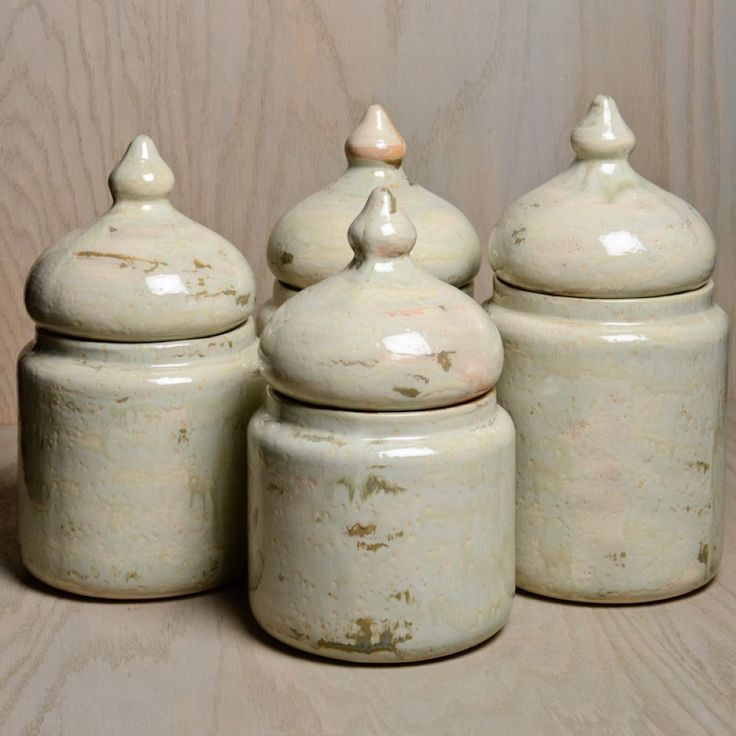 Good Earth Canister Set-Earth-toned, rustic, and the definition of unique, Good Earth Pottery will transform your kitchen and dining area into one of warmth and originality. Offering diverse patterns and numerous pieces for each collection, this carefully designed brand, leaves nothing to be desired. Features Small, Medium, Large, and Extra Large canisters