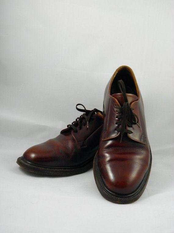 Vintage Alan McAfee  Brown  Plain Toe by BlackBirdVintiques, $75.00