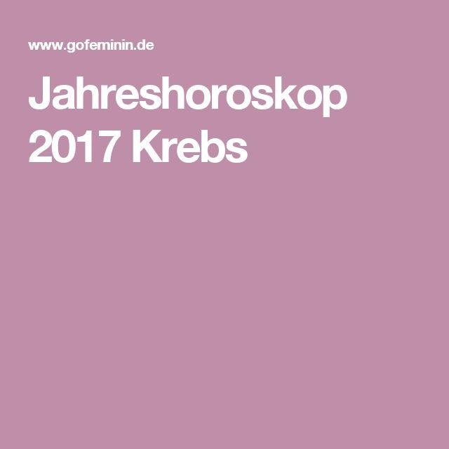 Jahreshoroskop 2017 Krebs