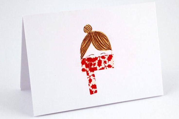 Washi-tape kaartje, krabbel tekenen en dan tape. zie meer voorbeelden op de site