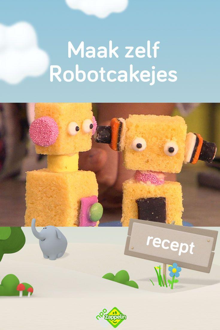Recept Maak Zelf Robotcakejes In 2020 Kleurplaten Voor Kinderen Knutselen Voor Kinderen