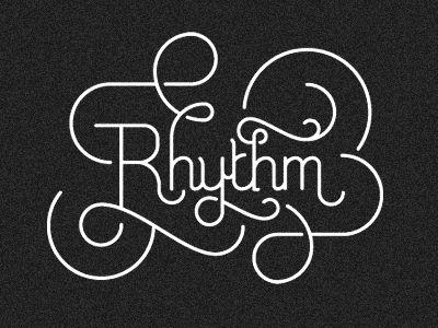 """""""Rhythm"""" by R A D I O (via TypeEverything)"""