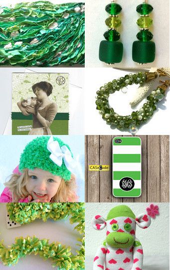 """Green Eyes"" Treasury by Natalie Thibault on Etsy SPS Team--Pinned with TreasuryPin.com"