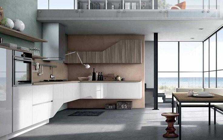 Moderne Farbgestaltung in der minimalistischen Küche