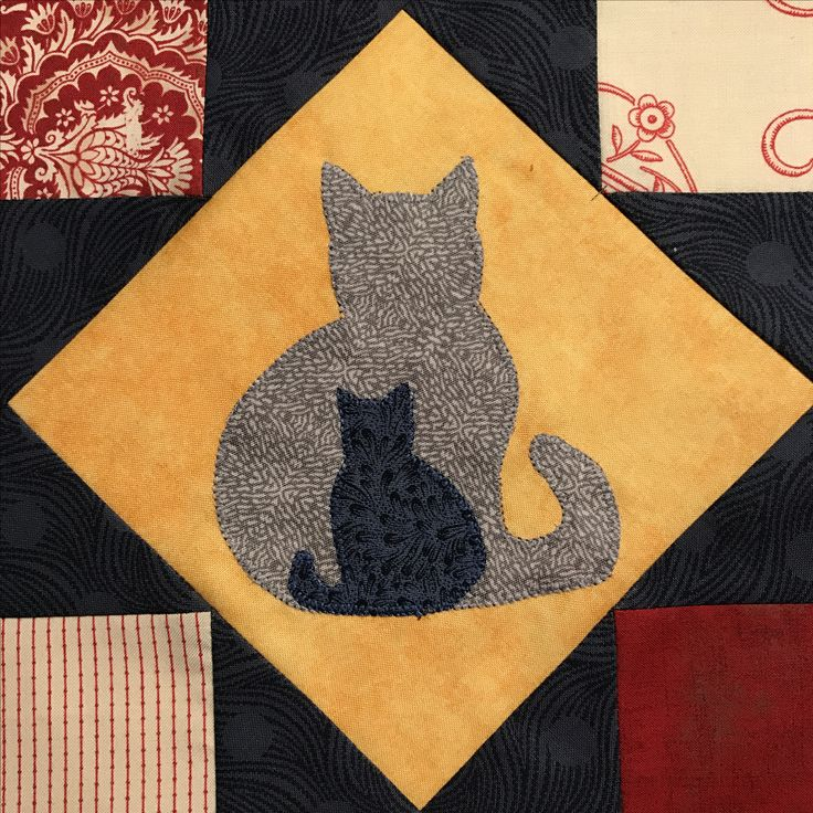 2 Cats made by Astrid Briedé for my Bobbin quilt