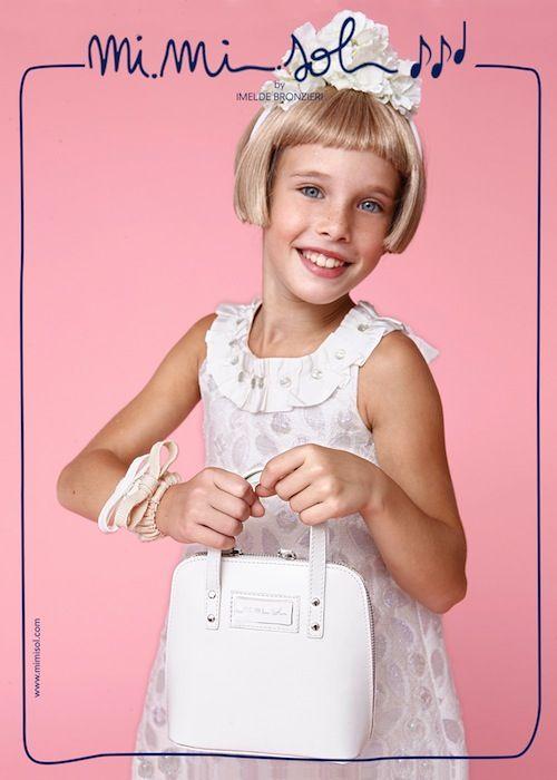 Dressed in #white, like a #yummycandy! #MiMiSol #Imeldebronzieri #PE2014 #SS2014 #children'scollection #dress