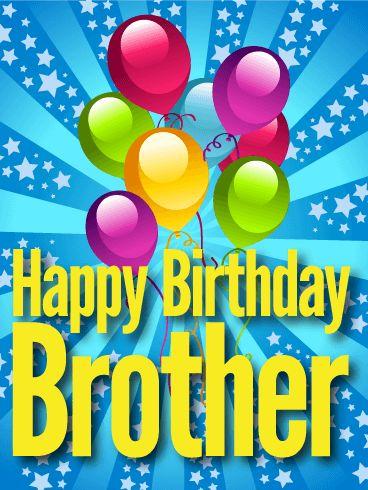 Glitzy Happy Birthday Card for Brother