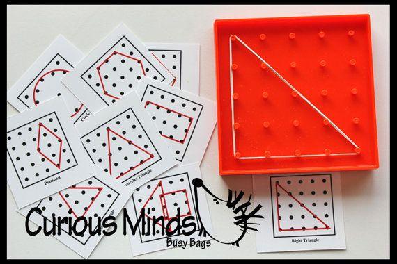 Mini Géoplan forme alphabet et nombre de par CuriousMindsBusyBags