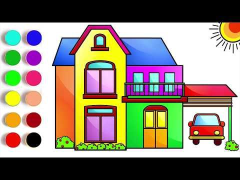 House Drawing And Coloring Pages For Kids Lean Color For Kids How