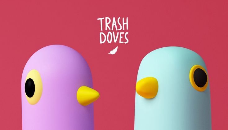 TRASH DOVES  3D, Illustration, Character, c4d
