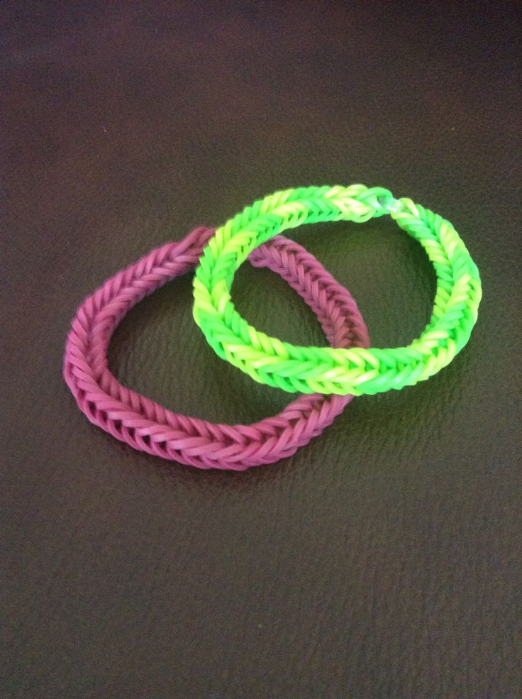 Fishtail rubber band bracelets