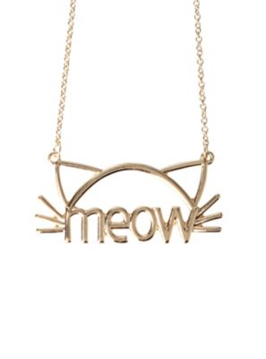 LOVEsick Meow Cat Necklace