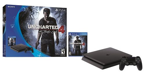 ***HOT*** PlayStation 4 Slim 500GB Console - Uncharted 4 Bundle $212.49!!! - http://couponingforfreebies.com/hot-playstation-4-slim-500gb-console-uncharted-4-bundle-212-49/