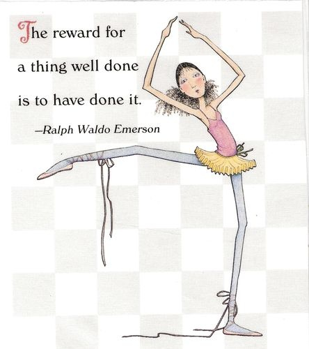 Reward Thing Well DONE to Have DONE It Lace Up Ballet Magnet Mary Engelbreit Art