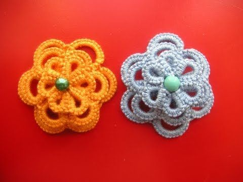 30' TUTORIAL FIORE A RILIEVO 3D CHIACCHIERINO AD AGO FLOWER NEEDLE TATTING