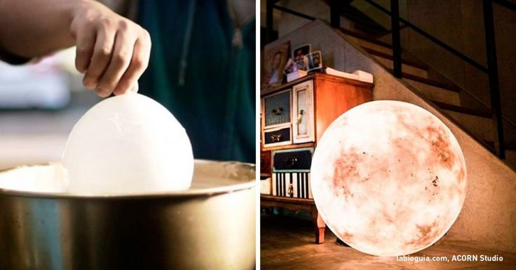 How to make your very own moon lamp.  I'll finally beable tomake this dream come true!
