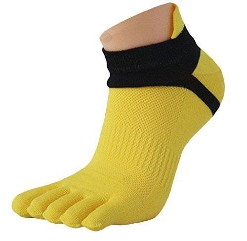 Oferta: 1.49€. Comprar Ofertas de Ularma Moda 1 par menmesh meias Sports corriendo cinco dedos calcetines del dedo del pie (tamaño libre, amarillo) barato. ¡Mira las ofertas!