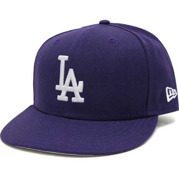 Los Angeles Dodgers New Era Basic 59FIFTY Fitted Hat - Purple - $34.99