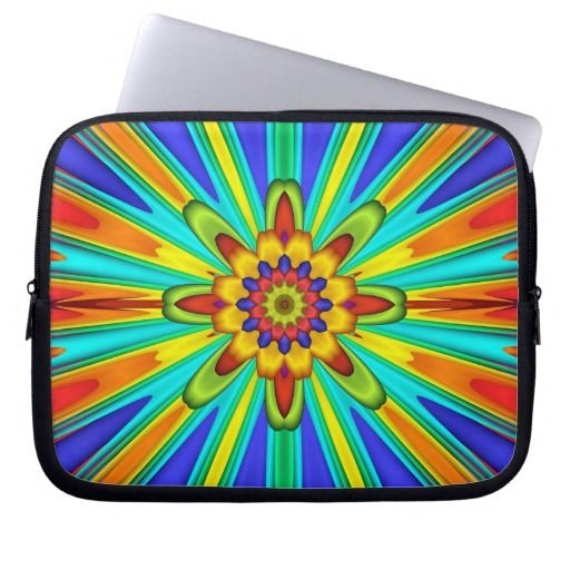 Radiant Happy Fractal Laptop Sleeve