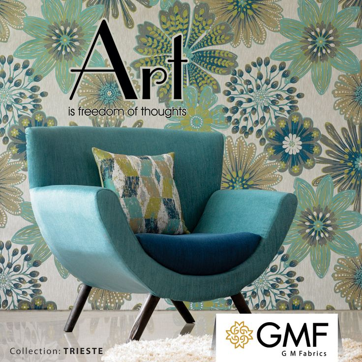Accessorize your #Home with our #Trieste Collection and give it an #Artistic touch. Explore more at www.gmfabrics.com #GMF #GMFabrics #HomeInterior #HomeFabrics #Furnishings