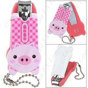 Cute Pig Style Nail Clipper Manicure with Key Chain