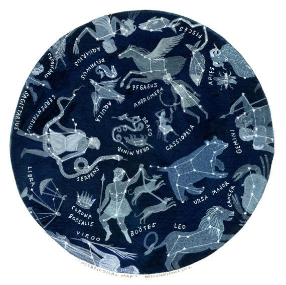 Etsy の Astrological Map by beccastadtlander