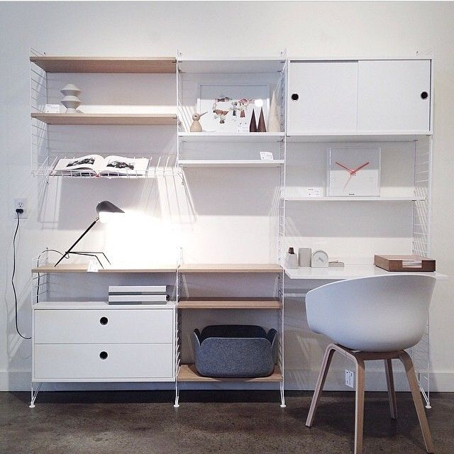 Want to buy String in Canada? Visit Kit Interior in Calgary. (Photo by @kitinteriorobjects ) #stringshelf #stringshelves #scandinavian #classic #sweden #stringfurniture #furniture #interior
