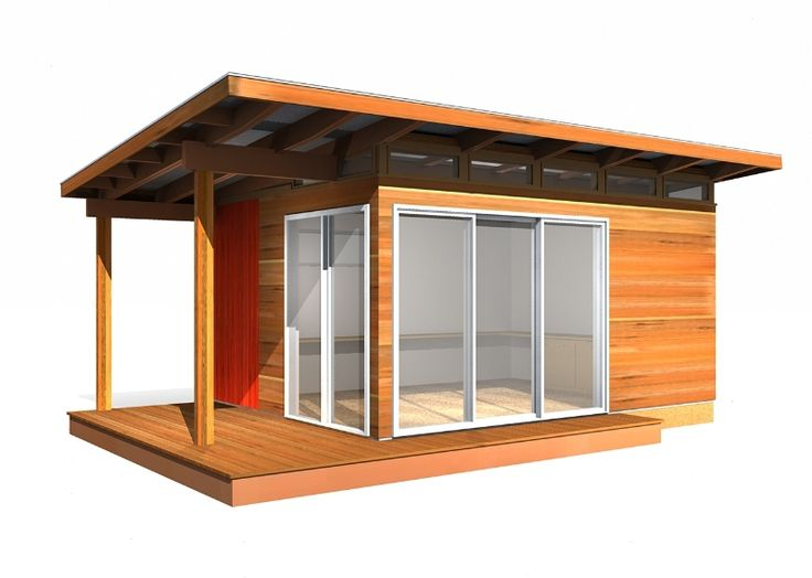 One day this can be our master bedroom bunkie cabin for Contemporary shed kit