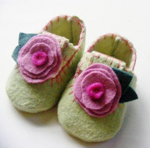 sweet felted slippers