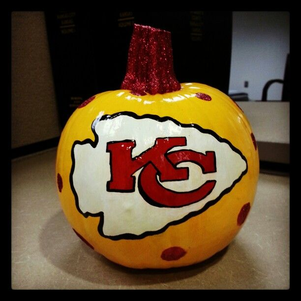 KC Chiefs Glitter Pumpkin 2013