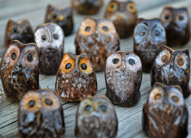 Miniature ceramic pottery owls how to