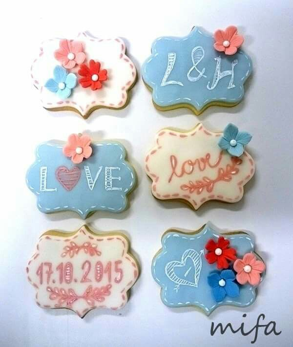 Wedding cookies by Mifa