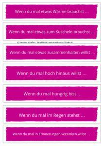 Wenn Buch Sätze in rosa Wenn Buch basteln   Wenn Buch Ideen