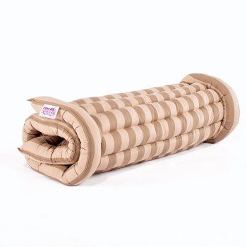 boutique roll up bed coffee u0026 cream an alternative to air mattresses