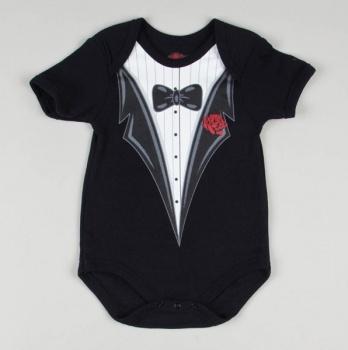 """"""" Tuxedo"""" screend Bodysuit"""
