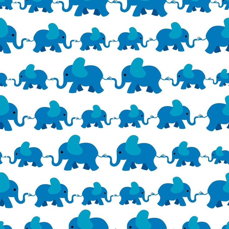 Elefant Hvit Barn Mønster fototapet/tapet fra Happywall