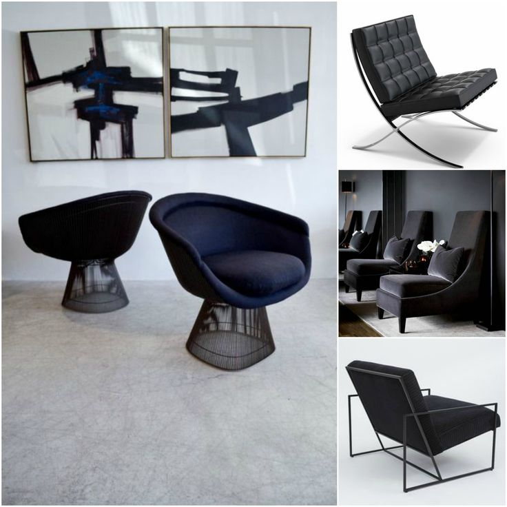 #black #chair #miesvanderrohe #barcelona #design #chairs #stoel #mini #moodboard #minimoodboard #leemwonen #blogazine