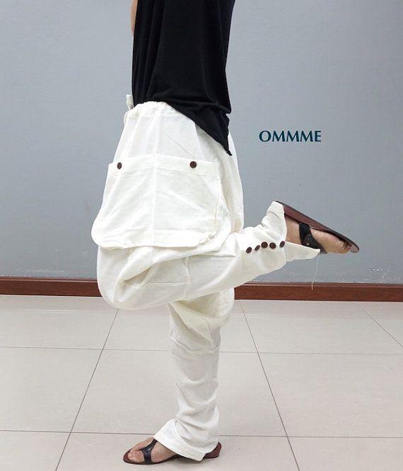 SEA harem pants white see through