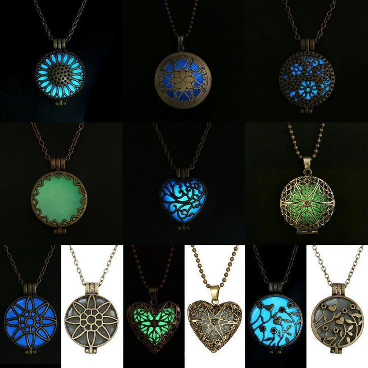 Beautiful Glow in the Dark Vintage Locket Necklace/Pendant Just pay sh – beautyenvy